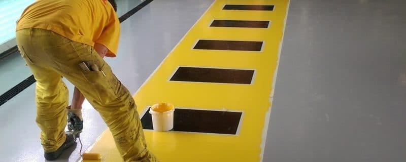 Vloerafwerking coating Schiphol