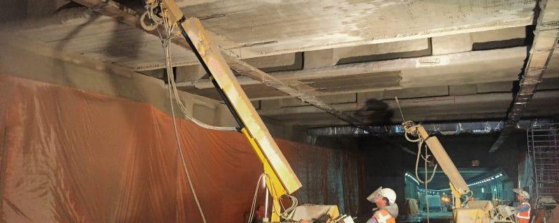 Verwijderen brandwerende bekleding IJtunnel